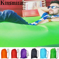 Sleeping lazy bag air sofa inflatable lazy lounger laybag outdoor flocked inflatable camping portable air sofa beach bed Lounger