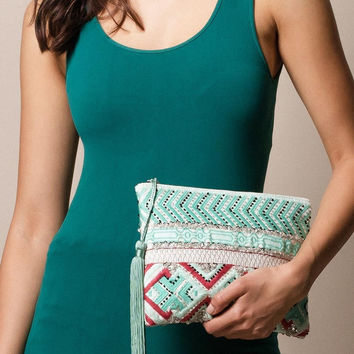 Bhavani Beaded Clutch