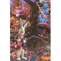Alice In Wonderland Rabbit Hole Tom Masse Poster 24x36