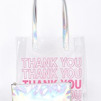 Thank You: Thank You Iridescent Tote