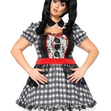 VONE5FW 4PC.Darling Babydoll,dress,back bow,collar,hair bow in MULTICOLOR