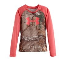 Under Armour Girls' Toddler UA Camo Raglan