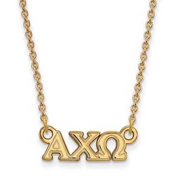 14K Plated Silver Alpha Chi Omega XS Necklace