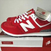 new balance 574 sport casual unisex n words retro sneakers couple running shoes-4