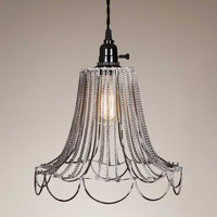Shabby Chic Wire Pendant Lamp Plug-in
