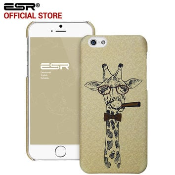 ESR Hard Back Cover illustration Cute Cartoon Case Scratch-Resistant Cover case for iPhone 6/6s 4.7""
