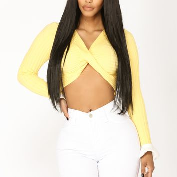 Tide To Change Front Twist Top - Yellow