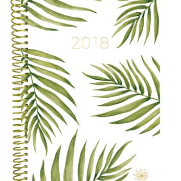 2018 Palm leaves Daily Planner, Green