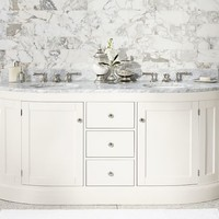 BRINKLEY DEMILUNE DOUBLE SINK CONSOLE - WHITE