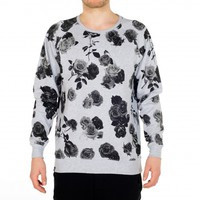 DEDICATED - Sweatshirt Roses in Grey Melange