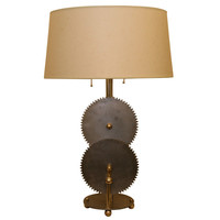 Retro Modern - Sylvestri - A Sculptural Table Lamp signed Sylvestri