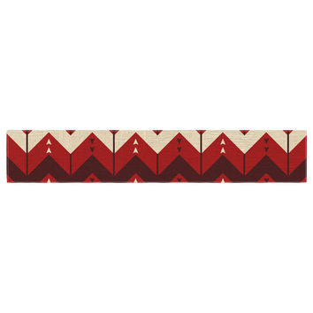 "Nick Atkinson ""Chevron Dance Red"" Table Runner"