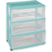 Portable Mobile Wide 3 Drawer Storage Organizer Cart with Wheels