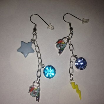 My Little Pony - Rainbow Dash Chain Dangle Earrings
