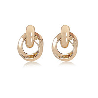 River Island Womens Gold tone glam knot earrings