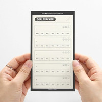 Weekly goal tracker sticky notepad