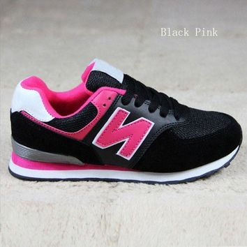 CREYONV new balance running shoes leisure shoes gump sneakers lovers shoes n words black pink