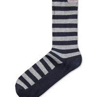 Navy Heather/Grey Heather Basic Socks