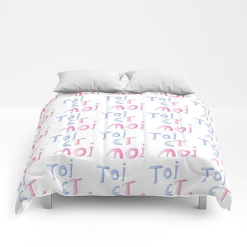 Toi et moi – Marriage, love, romantism,romantic,cute,beauty, tender, tenderness Comforters by oldking