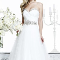 Tarik Ediz White G1043 Dress