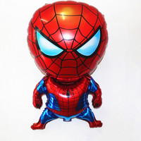 1pc 80*47cm Spiderman Balloon Classic Toys Christmas Birthday Wedding Decoration Party inflatable air balloons free shipping WYQ