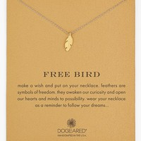 Women's Dogeared 'Reminder - Free Bird' Feather Necklace
