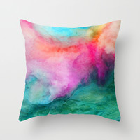 Staring at the Ceiling Throw Pillow by Jacqueline Maldonado