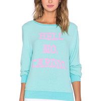 Wildfox Couture Hell No Cardio in Bubble Bath