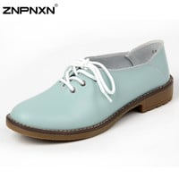 Oxford shoes for women flats new 2014 women genuine leather shoes woman pumps casual shoes flats sneakers
