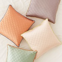 Satin Quilted Pillow | Urban Outfitters