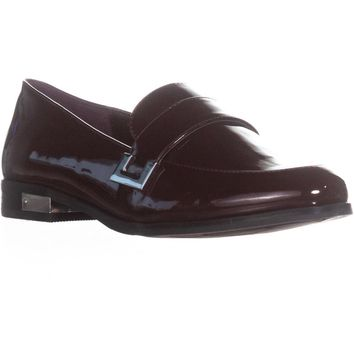 Marc Fisher Pagan Dress Loafer Flats, Dark Red Patent, 7 US