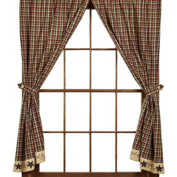 Tangled Berries Short Panel Curtains