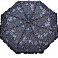 Skulls Umbrella by Sourpuss Clothing - Umbrellas & Parasols - Women - Accessories