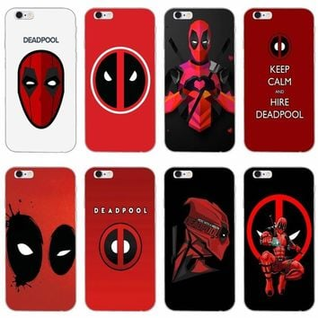 Marvel Deadpool logo slim silicone Soft phone case For LG G2 G3 mini spirit G4 G5 G6 K4 K7 K8 K10 2017 V10 V20