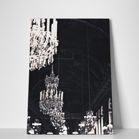 Chandelier Decor Print - Paris, Ready to hang canvas
