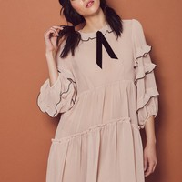 SOUFFLE RUFFLE DRESS