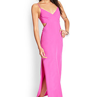 FOREVER 21 Cutout Maxi Dress Azalea Large