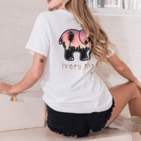 Ella Fit White Sunset In The City Tee