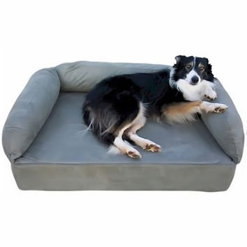 Snoozer Pet Dog Cat Puppy Indoor Comfortable Soft Quilted Luxury Memory Foam Sofa Sleeping Bed Small Denim