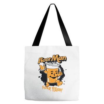 hey beer man Tote Bags