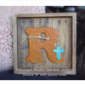 Reclaimed Wood, Letter Sign, Home Decor, Rustic Decor, Gift, Pallet Board, Rusted Metal, Distressed, Wall Art, Wall Letter, Wedding Decor