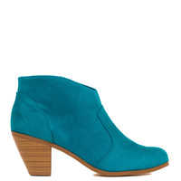 Thinking Of You Suede Booties - Teal