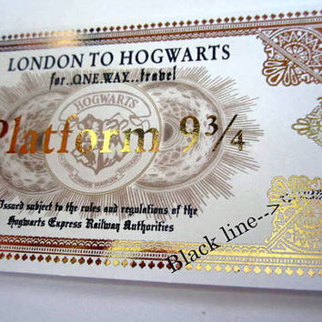 Wizarding Hogwarts Express Train Ticket Replica Prop (flawed)