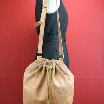 distressed vintage Ralph Lauren Bag from Italy by fashionMyDarling