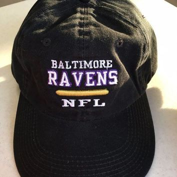 CREYONC. BRAND NEW BALTIMORE RAVENS BLACK REEBOK RELAX FIT ADJUSTABLE HAT