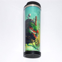 New DIY Mug Creative Coffee Cup with Miyazaki Hayao Howl's Moving Castle Pattern Cup Water Cup Travel Mug Stainless Steel 18 CM 400 ML