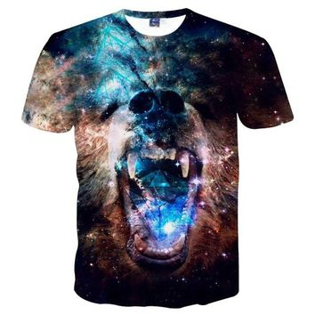 Space/Galaxy Dog - Unisex T-shirt - All Over Print