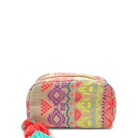 Abstract Woven Makeup Bag