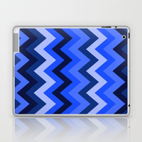 Blue Chevron Laptop & iPad Skin by lush tart
