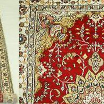 Traditional Runner New Handmade Rug 3' x 12' Red Sheik Safi Medallions Rug